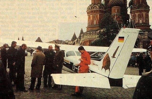 Западногерманский гражданин Матиас Руст на лёгком самолёте «Сессна