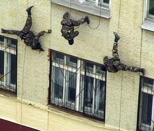 Тренировки бойцов специального назначения, 90-е.