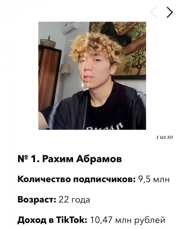 Рахим Абрамов - самый богатый тиктокер России