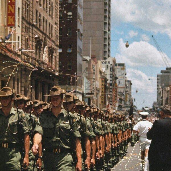 Австралийские солдаты возвращаются с Вьетнамской войны, Куинслэнд, 1970 год