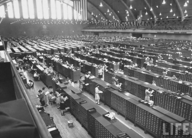 Здание картотеки отпечатков пальцев ФБР, 1943 год, Вашингтон