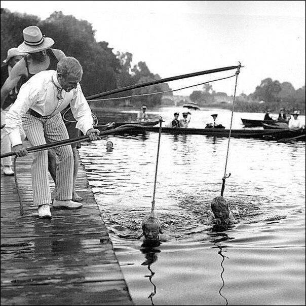 Уроки плавания, 1920-е гг.