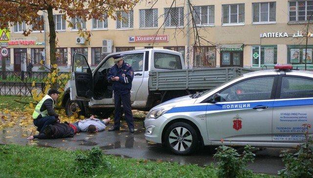 Погоня в Волхове - полиция и сотирудники ДПС
