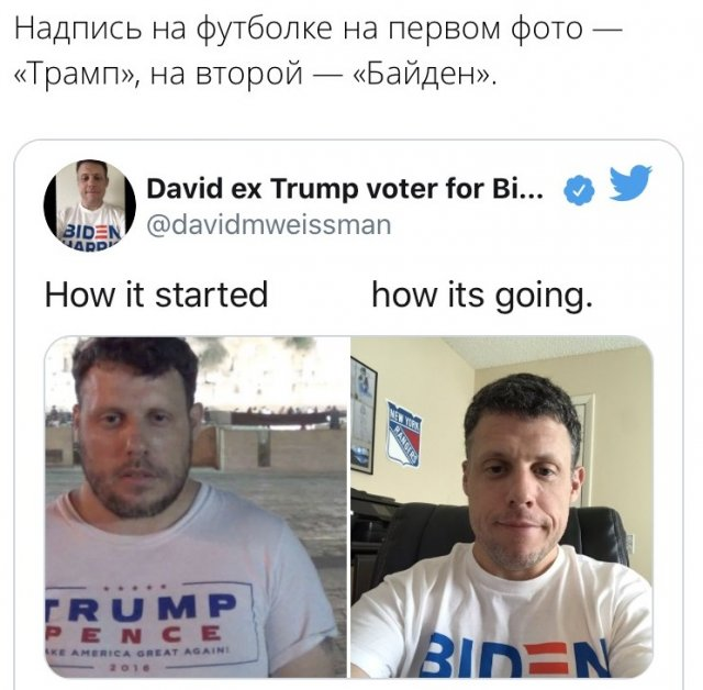 флешмоб How it started/How it's going о выборах в США
