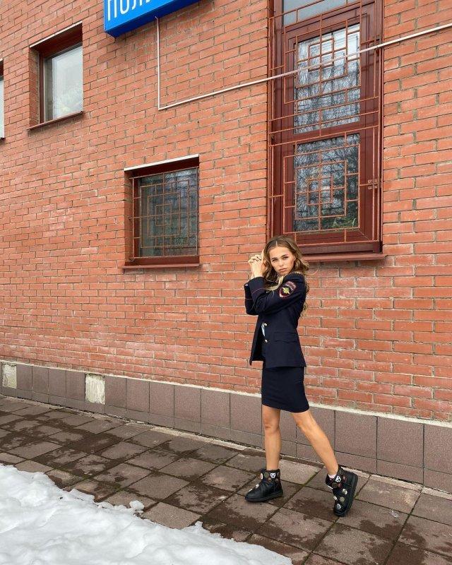 Анна Хилькевич в полицейской форме