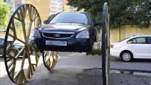 Ваз с огромными колесами