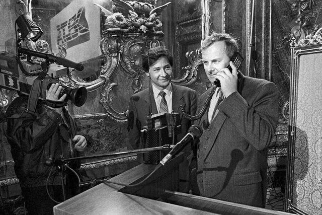 Первый в СССР звонок по мобильному телефону, Санкт-Петербург, 1991 год