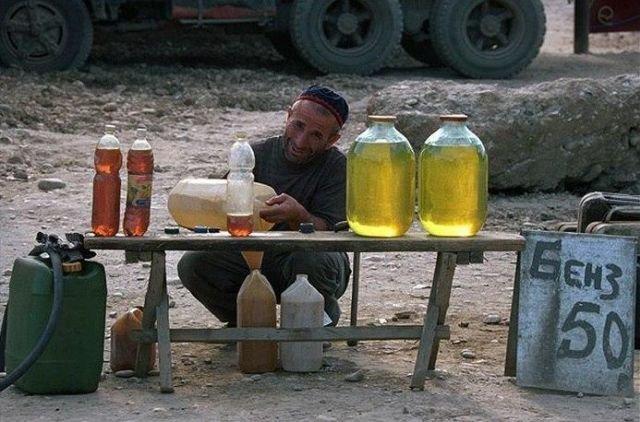 Продажа бензина в Чечне, 1995 год