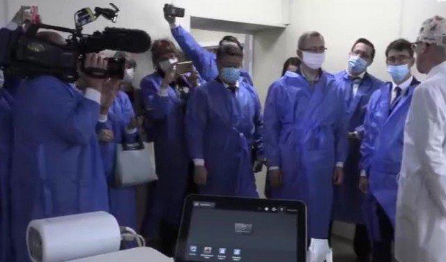 Чиновники открывают сосудистое отделение больницы в Калужской области