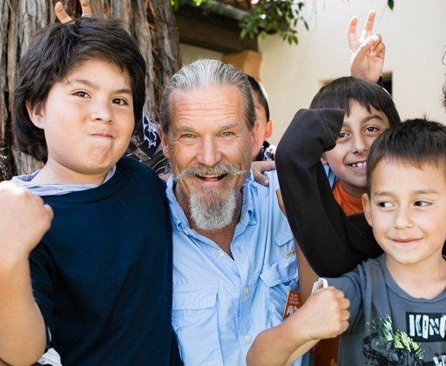 Джефф Бриджес с детьми