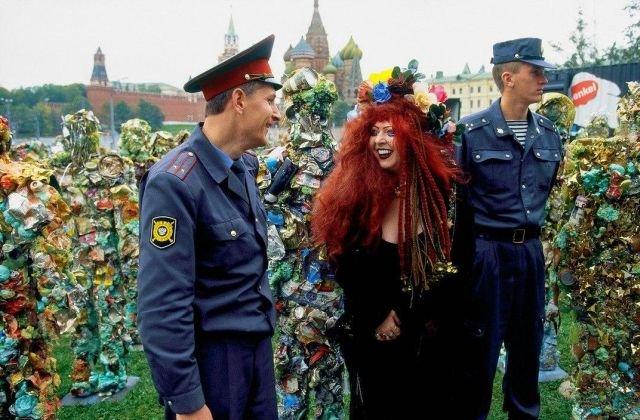 Праздник мусора в Москве, 1999 год.