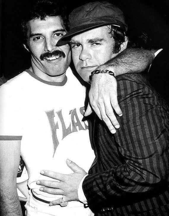 Фредди Меркьюри и Элтон Джон, 1980 год.