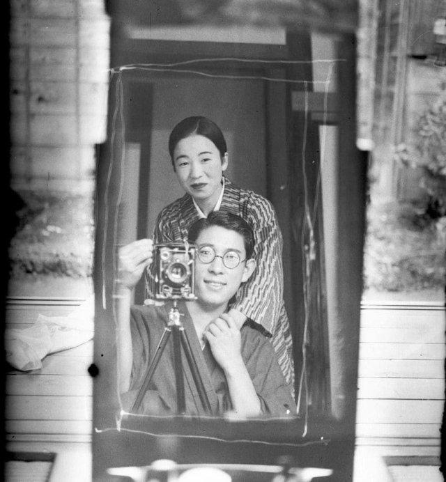 Селфи, Япония, 1920 год.