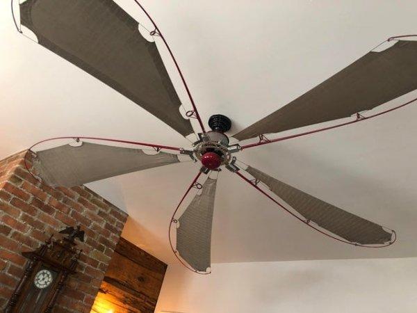 Потолочный вентилятор из удочек