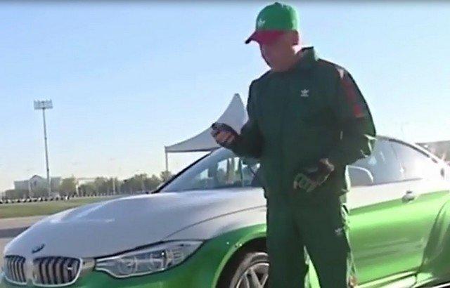 Гурбангулы Бердымухамедов и его дрифт на спортивном BMW