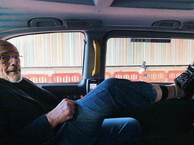 Кристофер Ллойд в машине
