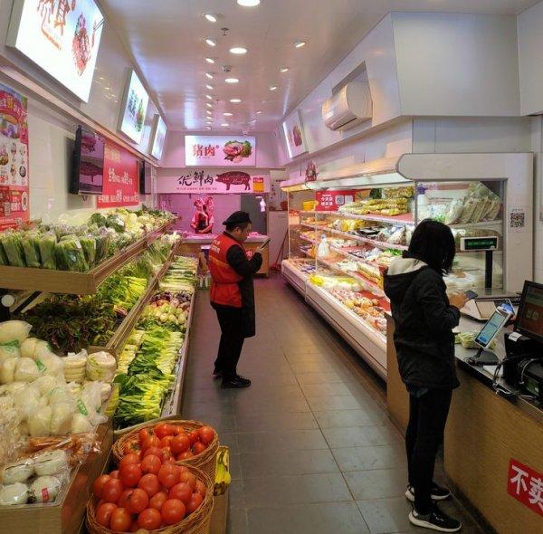 Сеть супермаркетов, где после 19:00 каждые полчаса стоимость продуктов понижается на 10 %