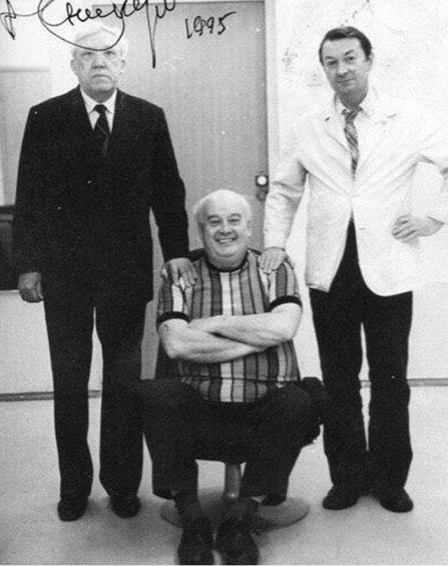Последняя фотография знаменитой троицы: Вицин, Никулин, Моргунов, 1995 год.