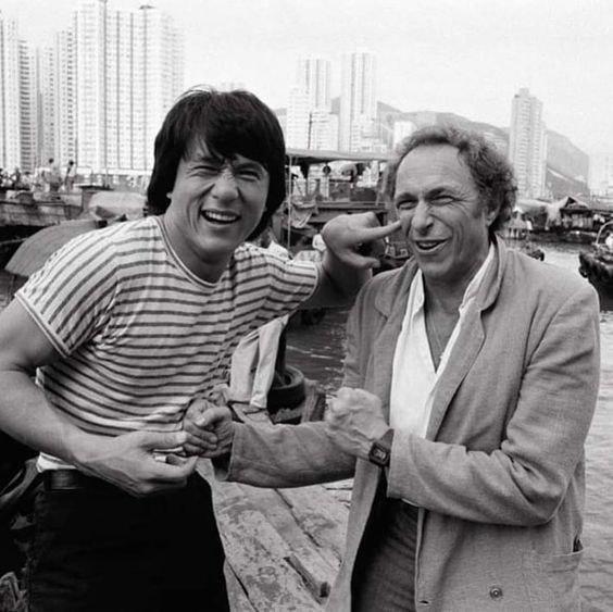 Джеки Чан и Пьер Ришар, Гонконг, 1985 год.