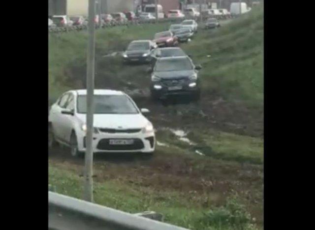 """""""Хитрые"""" водители в Домодедово"""