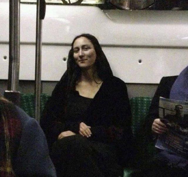 Мона Лиза в метро