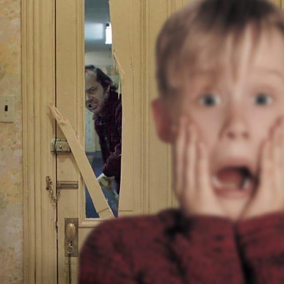 """Джек Николсон накостыляет """"Одному дома"""""""