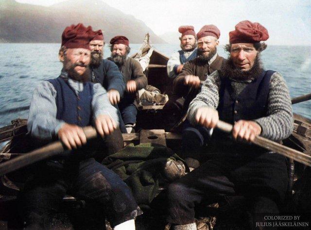 Рыбаки с Фарерских островов, 1898 год.