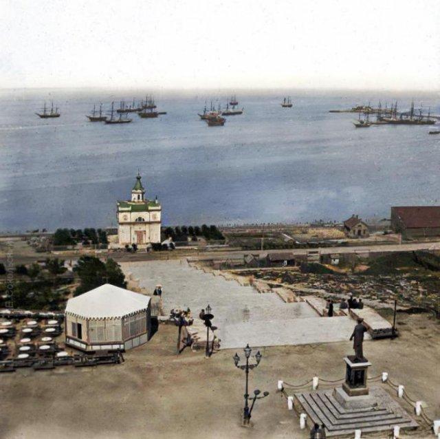 Потёмкинская лестница, Одесса, Российская империя, 1860 год