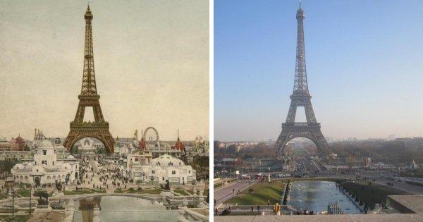 Марсово поле, Париж (1900 и 2017 годы)