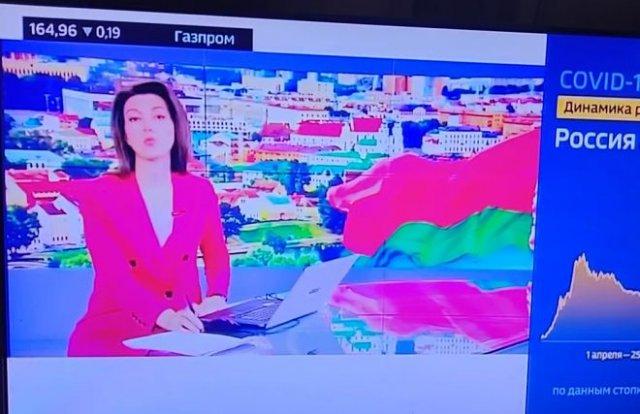 На российском ТВ, в репортаже про митинги в Белоруссии, показывают кадры из Нагорного Карабаха