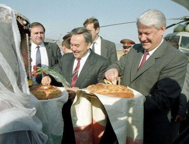Прибытие Бориса Ельцина и Нурсултана Назарбаева в Нагорный Карабах, 21 сентября 1991 год.