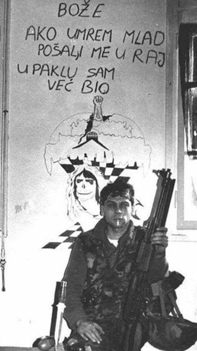 """""""Боже, если умру молодым, отправь меня в рай, в аду я уже побывал"""". Хорватия 1991 г."""
