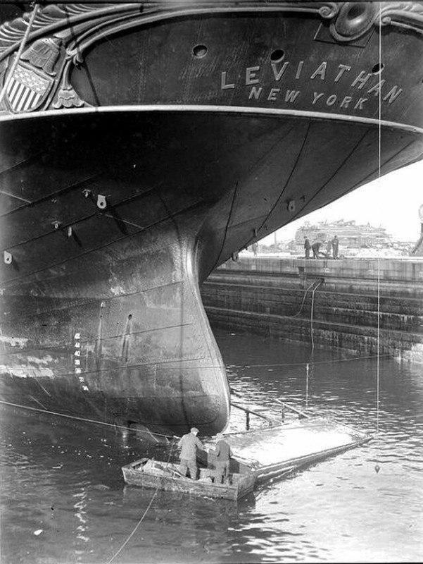 Самый большой корабль XIX века - Левиафан, Нью-Йорк, 1859 год.