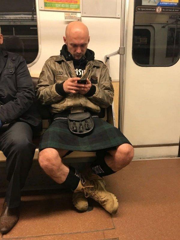парень в килте