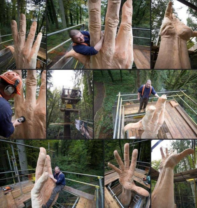 Рука из дерева