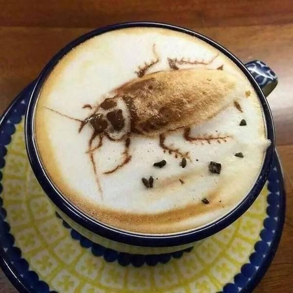 Таракан на кофе