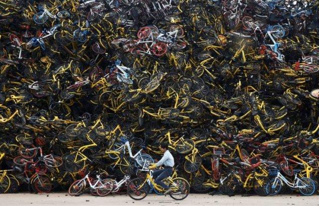 Свалка велосипедов