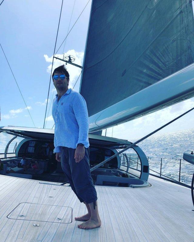 Борис Ельцин-младший на яхте