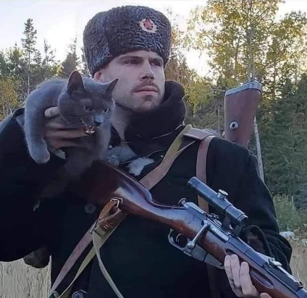 Кот и охотник