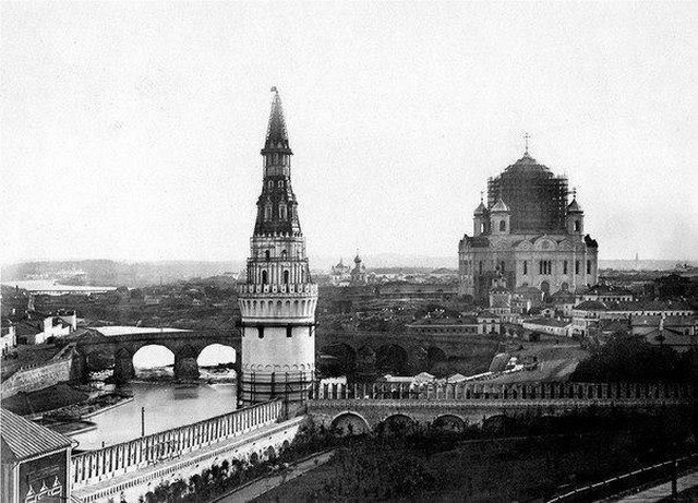 Завершение строительства храма Христа Спасителя, Москва, 1856 год.