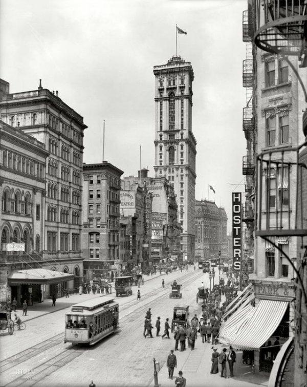 Таймс-сквер, Нью-Йорк, 1905 год