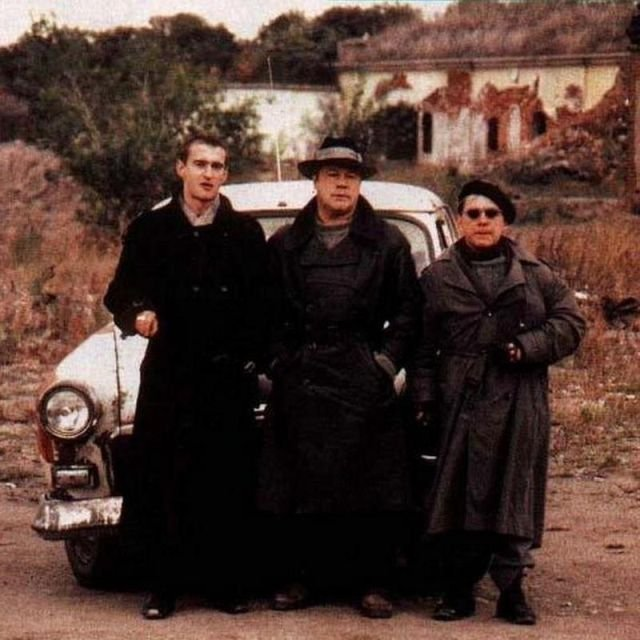 "На съёмках телесериала ""Убойная сила"", 1999 год."