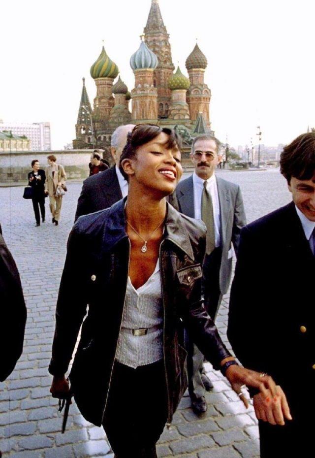 Наоми Кэмпбелл, Москва, 1990 год.