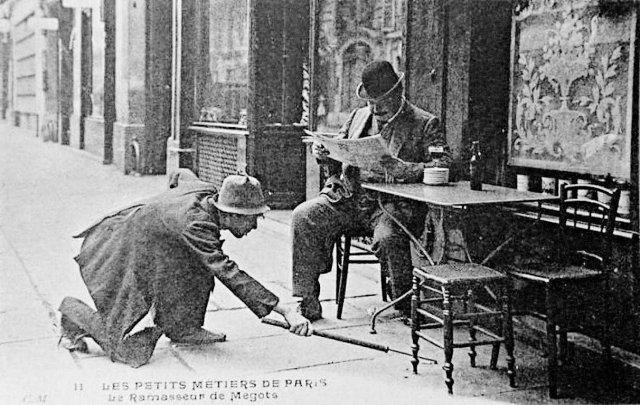 Собиратель окурков. Париж 1905 год.