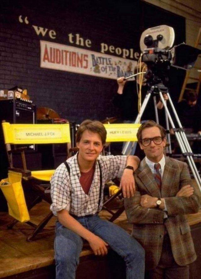 Майкл Джей Фокс и Хьюи Льюис, 1985 год, США