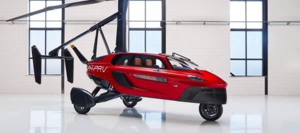 Автомобиль трансформирует в гирокоптер