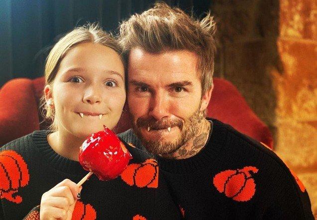 Дэвид Бэкхем с дочерью