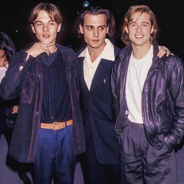 Леонардо Ди Каприо, Джонни Депп и Брэд Пит, 1996 год