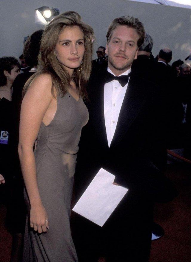 Джулия Робертс и Кифер Сазерленд, 1990 год