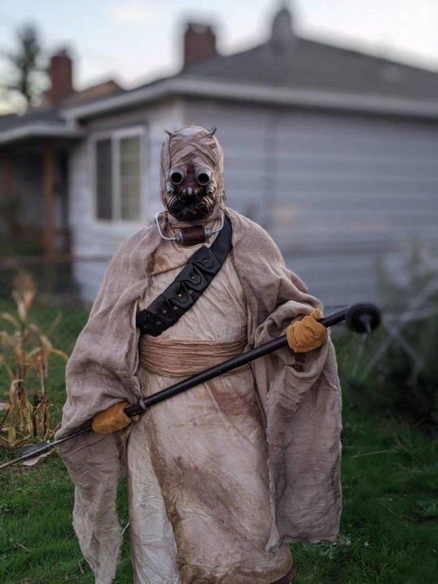 Страшный костюм на Хэллоуин